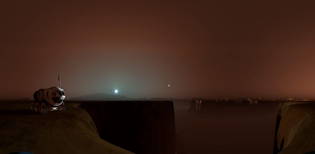 火星青い夕焼け